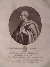 Beato Bartolomeo Michieli 1832 Contarini Venezia acquaforte originale Michiel