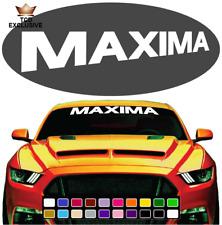 Maxima Cool Fun Windshield Window Vinyl Car Decals