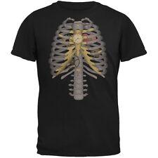 Steampunk Mechanical Skeleton Costume Black Adult T-Shirt