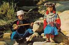 Thaïlande - cpsm - Thai Liso Hill tribe boy ans girl