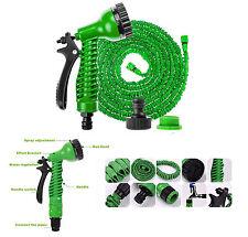 50-200FT 3x Tubo de manguera de jardín flexible en expansión con pistola boquilla extensible
