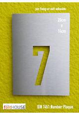 DIN 1451 Edelstahl Hausnummer/Zahl Schild