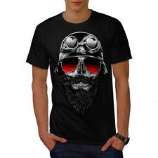 Calavera Barba Hipster Camiseta Para Hombres S-5XL Nuevo | wellcoda