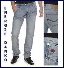 jeans energie da uomo danko slim fit a gamba dritta dritto chiari 31 32 33 44 46