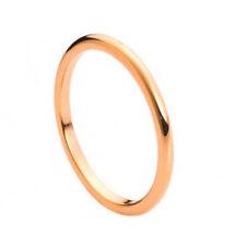 2MM Tungsten Carbide Wedding Band High Polish Rose Gold Tone Classic Ring