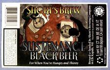 Short's Brew SUSTENANCE BLACK BEER label MI 12oz STICKER