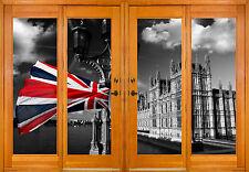 Stickers window trunk the eye English Flag ref 2527 ( 10 dimensions )