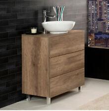 Badezimmerschrank Bodenplatte mit 3 Schubladen Unika 70