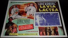 1969 The Milky Way ORIGINAL MEXICAN LOBBY CARD Luis Bunuel La voie lactée A