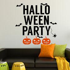 Halloween Wall Decal Pumpkin Decal Bat Sticker Holiday Halloween Art Decor MA375
