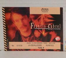 Place de concert FRANCIS CABREL Nantes L Beaujoire Jeudi 14 décembre 1989