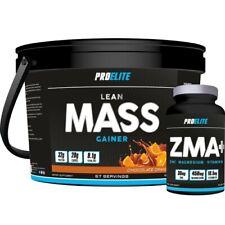 4kg weight gain proelite lean mass gain whey protein + zma tablets mass