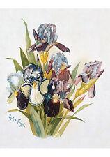 Purple Irises by Paul de Longpre (Art Print of Vintage Art)