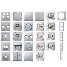 MERTEN Schalter- Dosen - Rahmen - Aluminium - alle Komponenten frei wählbar