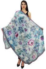 Long Floral Bleu Écharpe Wrap Sarong Été Femme Châle Foulards-40X72 Pouces