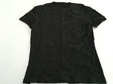 HOM t-shirt uomo mezza manica nero con impunture rosse 96%poliammide 4% elastan