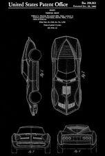 1966 - Mako Shark Corvette - W. L. Mitchell - Patent Art Poster