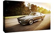 Mustang Shelby Eleanor Coche Clásico LONA pared arte Foto impresión-Varios Tamaños