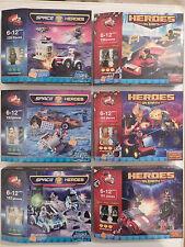 Brick by Brick Building Bricks Space Heroes or Heroes on Earth (Choice of 6)