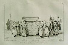 1835: Napoli, Funzione Funebre.Funerale, Corteo Funebro.Passpartout.AUDOT.ETNA