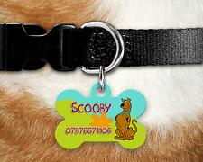 Personalised Pet Tag - ID Tag - Dog Tag - Bone Tag - Scooby Doo Dog Tag