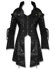 Punk Rave Poison Black Womens Jacket Coat Goth Steampunk Faux Leather Mesh