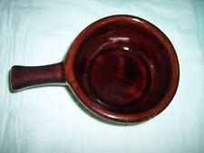 Vintage - Crock Brown Bowl With Handle