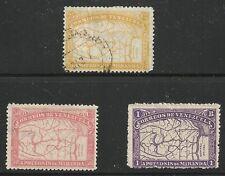 Venezuela Scott #139-41, Singles 1896 FVF Used/MH