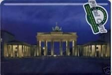 Blechpostkarte Postkarte Berlin Brandenburgertor Nacht mit Umschlag + Aufhänger