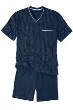 Götzburg kurzer Schlafanzug Shorty Pyjama V-Neck bis Größe 80 Übergrößen