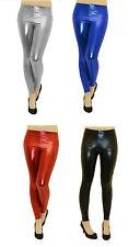 Sexy Shiny Wet Look Metallic Full Ankle Length Jeggings/Leggings ALL SIZES  8-14