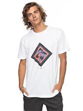 Quiksilver Herren T-Shirt Classic Crimson Skyline (White)