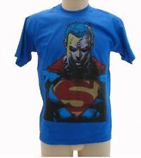 T-shirt Superman busto Blu Royal maglia Originale Maglietta in cotone