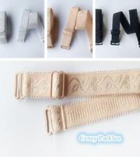 Adjustable Detachable Bra Straps White Black Beige 15mm width