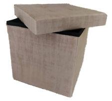 Pouf contenitore cassapanca baule pieghevole in velluto 38X38X38 CM