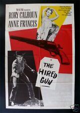 THE HIRED GUN ✯ CineMasterpieces ORIGINAL WESTERN MOVIE POSTER 1957