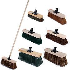 GIARDINO Esterno Scopa Spazzare Pennello manico lungo in legno Scopa Pulizia Pavimento Giardino