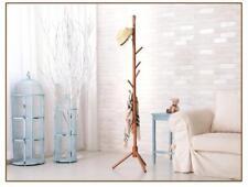 Wooden Coat Hat Rack Home Modern Furniture 8 Hooks Clothe Accessories Organizers
