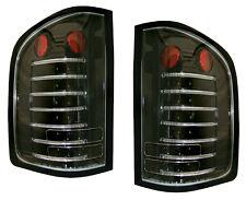 2010-2011 Silverado 1500/2500/3500 Fiber Optic LED Tail Light Pair  Black