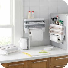 Plastic Refrigerator Cling Film Storage Rack Shelf Wrap Cutting Paper Holder