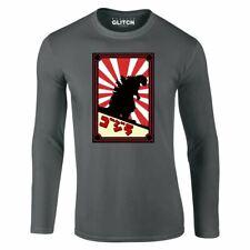 La realidad Glitch Hombre monstruo japonés de Manga Larga T-Shirt