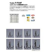 8040) DECOY. TREBLE Y-F33F, Extra Fine wire Treble. Size variation.