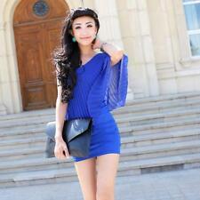 Women's One Shoulder Bodycon  Casual Cocktail Evening Clubwear Mini Dress B
