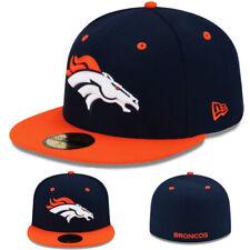 New Era Broncos De Denver 5950 Cappello Aderente NFL Squadra Blu Navy Arancione