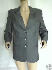 neu damen elvi grey pinstripe tailored jacke übergrößen 16 18 20 & 22