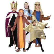 Niño Niña Belén Navidad OBRA escolar bíblico Disfraz NUEVO