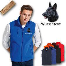 Fleece Weste Fleeceweste bestickt Stickerei Schäferhund schwarz + Name