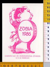 24587] PIACENZA  FIORENZUOLA D'ARDA  CARNEVALE 1986