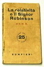 06178 C. W. W.  - La relatività e il signor Robinson - Bompiani - N°25 1939