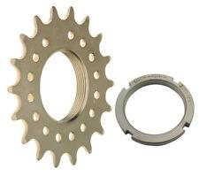 Mr Control TRST 3/32 Pro Track Cog & Lockring Fixed Gear Bike Hardnd CroMo/Nickl